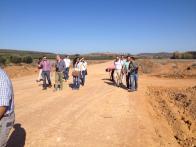 obra impacto ambiental en carretera BA-159 Badajoz, Extremadura